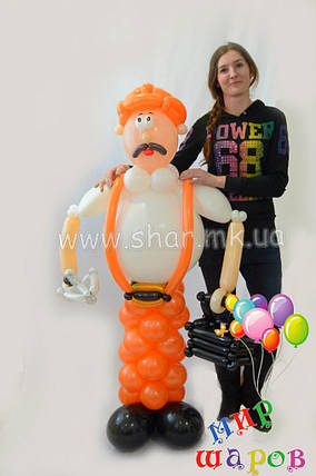 Строитель из воздушных шаров, фото 2