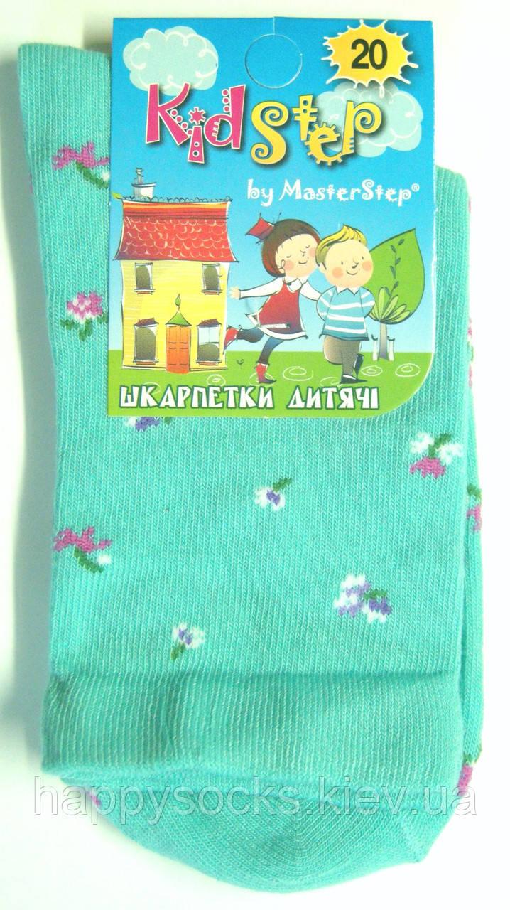 Бирюзовые носки с цветочным узором детские