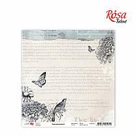 "Бумага для скрапбукинга ""Charmed garden"" 2 30,5 * 30,5см, 180г / м2 ТМ ROSA Talent (481801-2)"