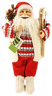 Санта Клаус  45м в овечей жилетке с лыжами