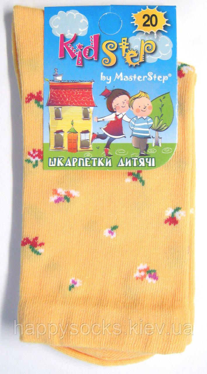 Носки с цветочным узором детские желтого цвета