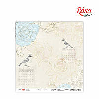 "Бумага для скрапбукинга Charmed garden"" 3, 30,5 * 30,5см, 180г / м2 ТМ ROSA Talent (481801-3)"