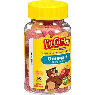 L'il Critters Omega-3 60 шт витамины детские жевательные