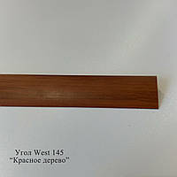 Углы отделочные пластиковые WEST текстура под дерево 2.7м 10*20, 145