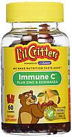 L'il Critters Immune C + Zinc & Echinacea 60шт витамины детские жевательные
