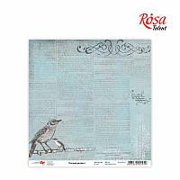 "Бумага для скрапбукинга ""Charmed garden"" 4, 30,5 * 30,5см, 180г / м2 ТМ ROSA Talent (481801-4)"