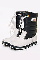 Ботинки дутые для девочек белые  096-3 (28-31)