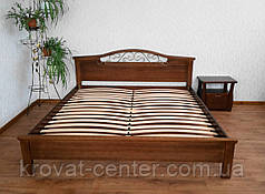 """Белая кровать """"Фантазия - 2"""". Массив - сосна, ольха, береза, дуб., фото 3"""