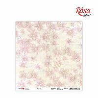 """Бумага для скрапбукинга """"Flora"""" 1, 30,5 * 30,5см, 180г / м2 ТМ ROSA Talent (481701-1)"""