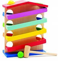 Деревянная развивающая игрушка Горка Домик