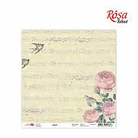 """Бумага для скрапбукинга """"Flora"""" 2, 30,5 * 30,5см, 180г / м2 ТМ ROSA Talent (481701-2)"""