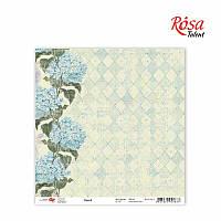 """Бумага для скрапбукинга """"Flora"""" 3, 30,5 * 30,5см, 180г / м2 ТМ ROSA Talent (481701-3)"""