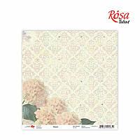 """Бумага для скрапбукинга """"Flora"""" 4, 30,5 * 30,5см, 180г / м2 ТМ ROSA Talent (481701-4)"""