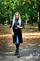 Стильное пальто-трансформер: куртка и кашемировый низ, цвет черный