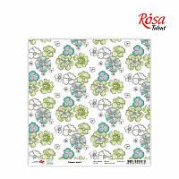 """Бумага для скрапбукинга """"Flowers time"""" 2, 30,5 * 30,5см, 180г / м2 ТМ ROSA Talent (481401-2)"""