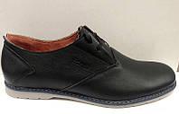 Туфли Оксфорд женские кожаные черные Uk0071