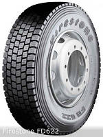 Грузовые шины на ведущую ось 315/80 R22,5 Firestone FD622