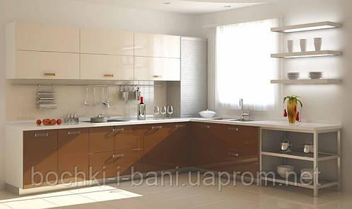 Кухонный гарнитур с акриловым фасадом, фото 2