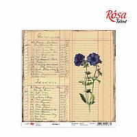 "Бумага для скрапбукинга ""Heritage"" 1, 30,5 * 30,5см, 180г / м2 ТМ ROSA Talent (481201-1)"
