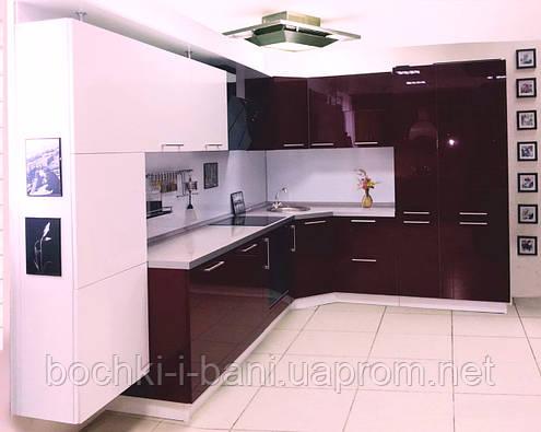 Кухонный гарнитур с акриловым фасадом , фото 2
