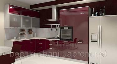 Кухонный гарнитур с акриловым фасадом , фото 3