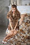 """Шуба полушубок из светлой куницы """"Тина"""" marten fur coat jacket, фото 7"""