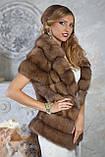 """Шуба полушубок из светлой куницы """"Тина"""" marten fur coat jacket, фото 8"""