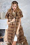 """Шуба полушубок из светлой куницы """"Тина"""" marten fur coat jacket, фото 9"""