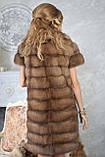 """Шуба полушубок из светлой куницы """"Тина"""" marten fur coat jacket, фото 10"""