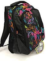 Рюкзак Nigini 1954 черный в бабочках школьный детский для девочек