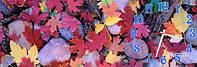 Осень часы настенные 30*90 см фотопечать