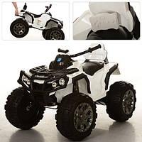 Детский электрический квадроцикл M 3156 EBR-1 белый с мягкими колесами и пультом управления