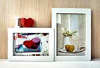 Мультирамка на 2 фото love белая