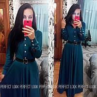 Длинное платье в пол с планочкой на пуговицах на лифе, фото 1