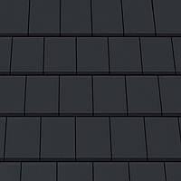 """Черепица керамическая Creaton Domino черный матовый ангоб коллекции """"Nuance"""" Дахівка керамічна Креатон Доміно"""