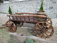 Декоративная телега для цветов, фото 1