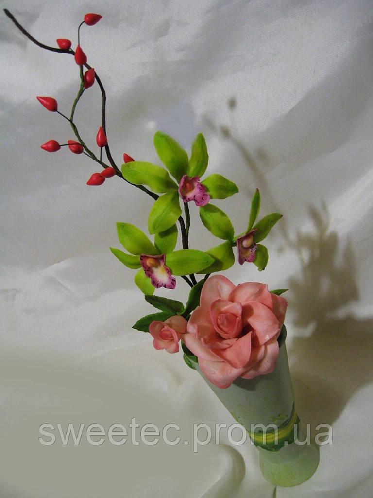 Купить цветы из мастики харьков фото доставка цветов с надписями по москве