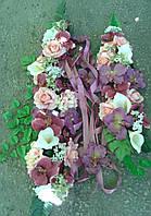 Комплект украшение на машину,арку розы,каллы,гортензии,зелень