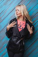 Демисезонная курточка с большим отложным воротнико