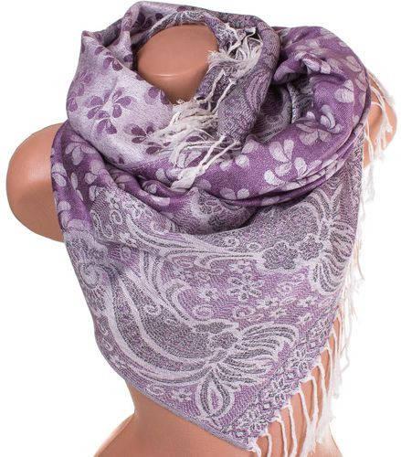 Привлекательный женский двусторонний палантин из пашмины 172 на 69 см ETERNO ES2707-4-2 фиолетовый