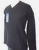 Мужской однотонный пуловер