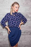 Модное оригинальное платье с шифоновой блузой