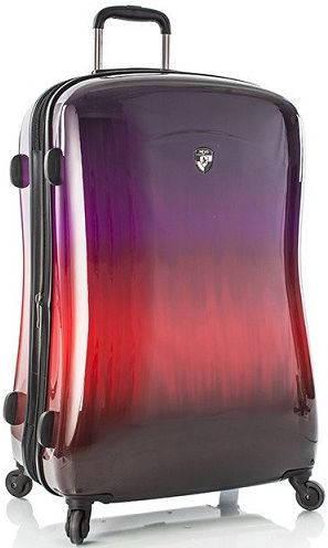 Стильный пластиковый 4-колесный чемодан 96 л. Heys Ombre Sunset (L) 923071, разноцветный