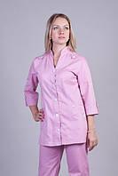 Женский  медицинский костюм на пуговицах из каттона