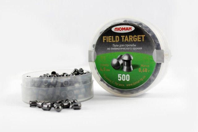 Округленные пули для пневматики. Пули Люман 0,68г Field Target, 500 шт/уп