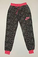 Спортивные брюки на девочку,черные на манжете,трикотажные 36 р.