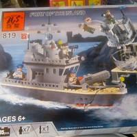 Детский Конструктор корабль 819
