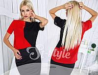 Блуза стильная двухцветная, молодежная
