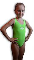 Купальник подростковый спортивный для бассейна. Arena. Салатовый. 2065.1