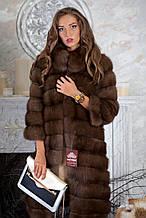 "Шуба з темної куниці ""Олександра"" marten fur coat jacket"